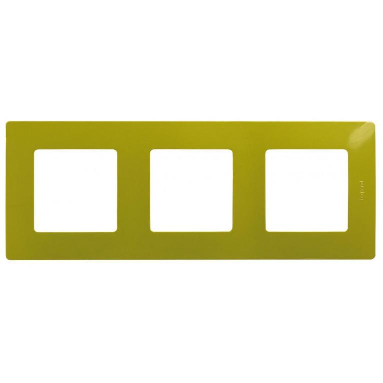 Рамка 3-постовая Legrand Etika зелёный папоротник 672543