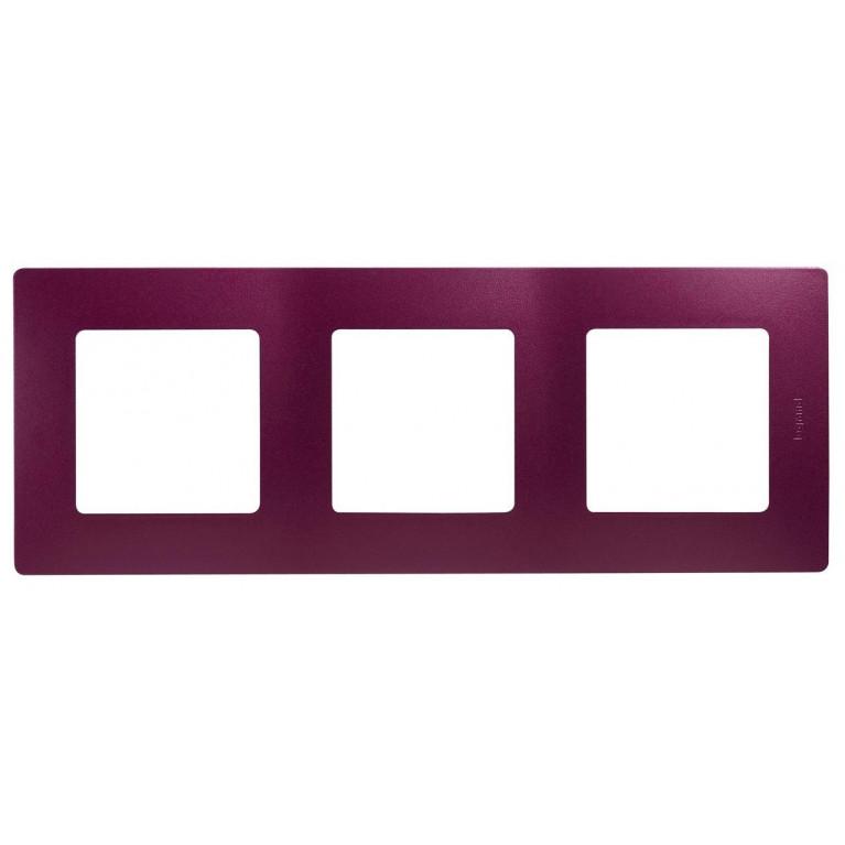 Рамка 3-постовая Legrand Etika сливовая 672563