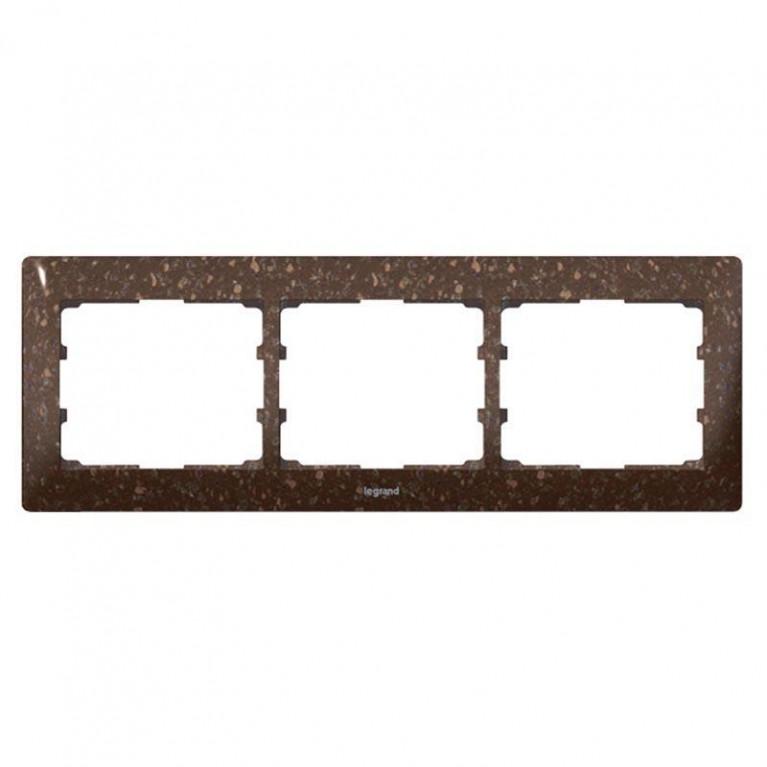 Рамка 3-постовая Legrand Galea Life какао коричневый 771703