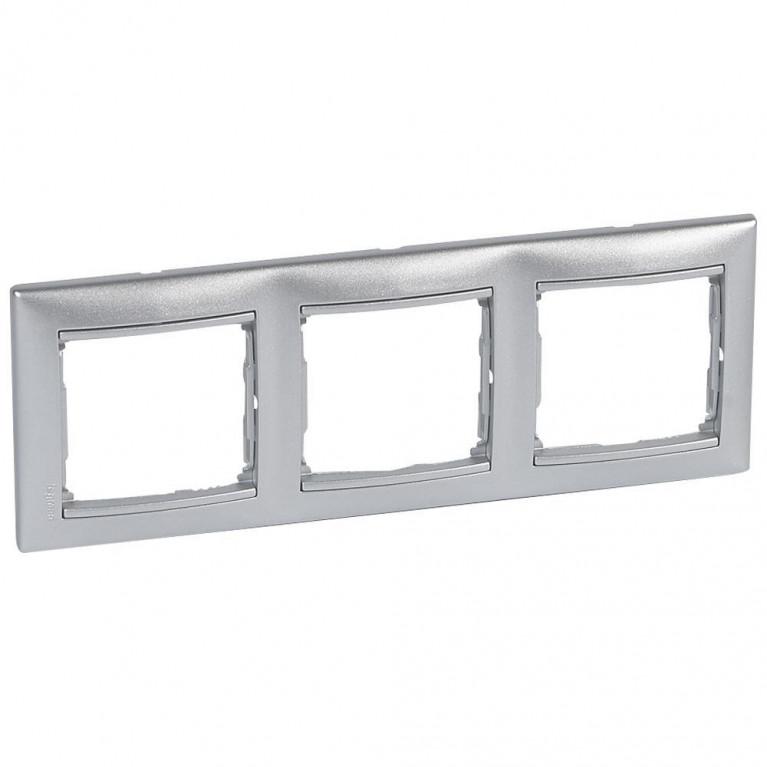 Рамка 3-постовая Legrand Valena алюминий 770153