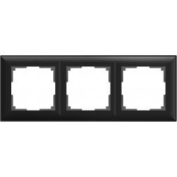 Рамка Fiore на 3 поста черный матовый WL14-Frame-03 4690389109140