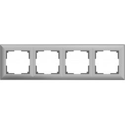 Рамка Fiore на 4 поста серебряный WL14-Frame-04 4690389109164