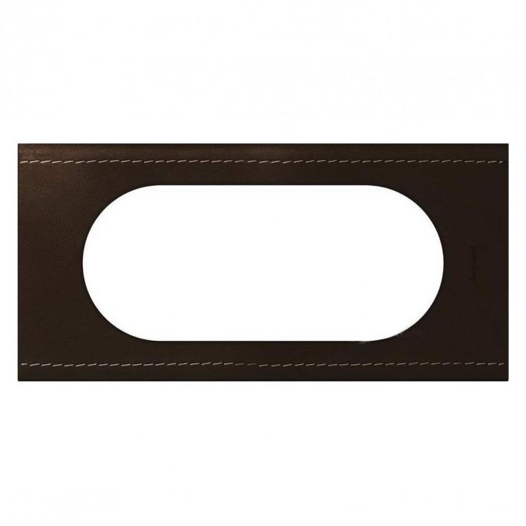 Рамка 4/5-модульная Legrand Celiane кожа текстура 069405