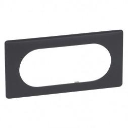 Рамка 4/5-модульная Legrand Celiane черная перкаль 066745