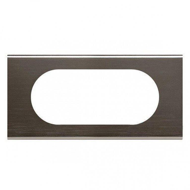 Рамка 4/5-модульная Legrand Celiane чёрный никель 069035