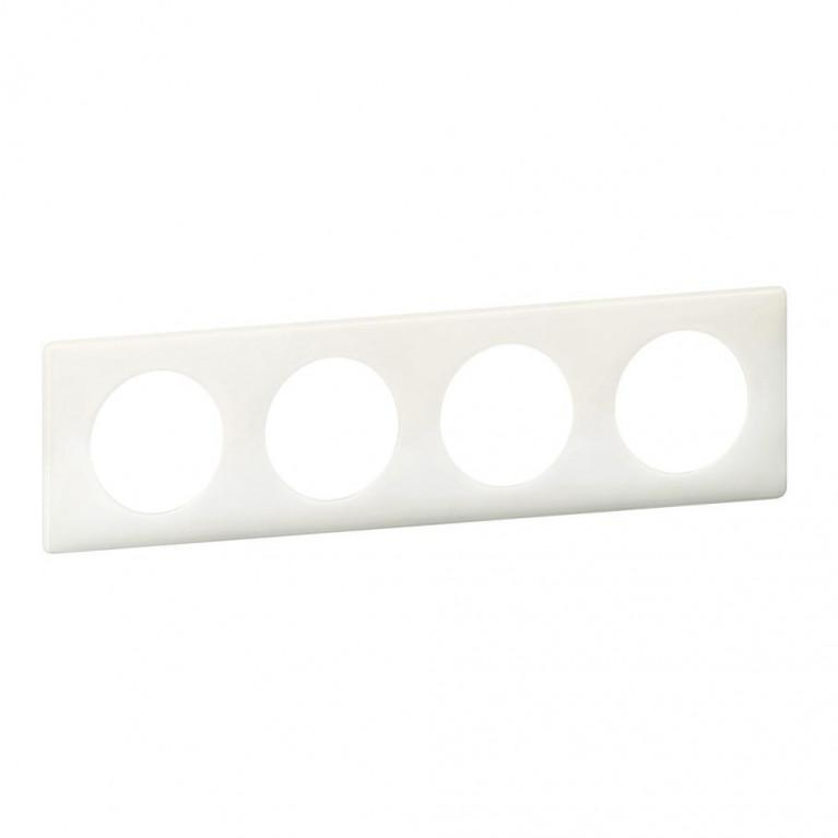 Рамка 4-постовая Legrand Celiane белый глянец 066634