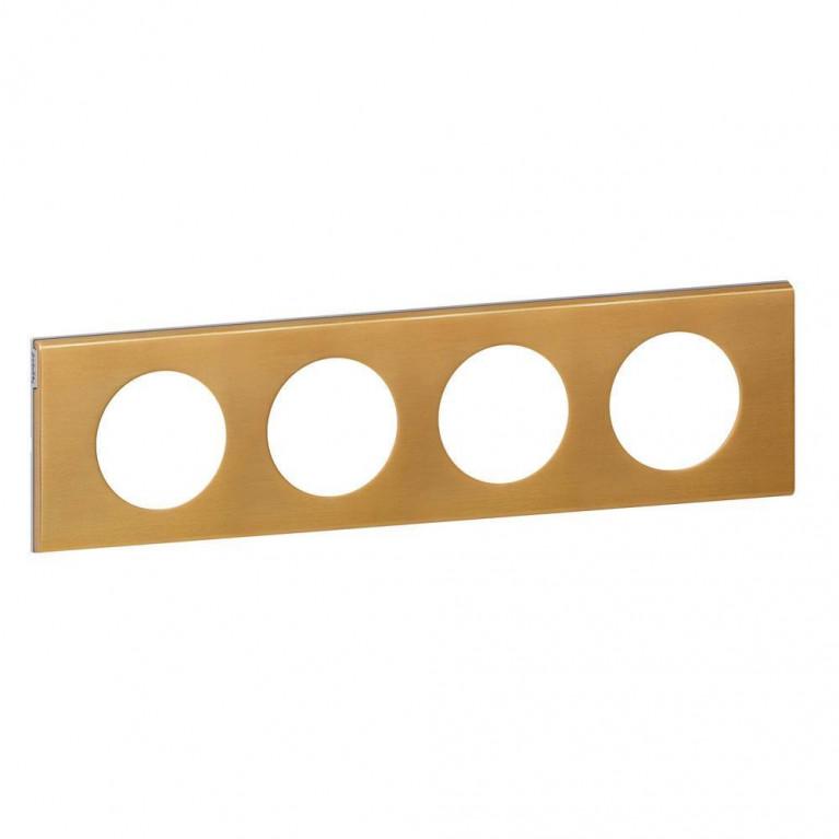 Рамка 4-постовая Legrand Celiane золото 069134