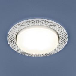 Встраиваемый светильник Elektrostandard 1071 GX53 WH белый 4690389102837