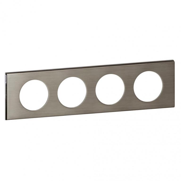 Рамка 4-постовая Legrand Celiane фактурная сталь 069104