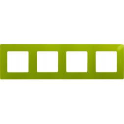 Рамка 4-постовая Legrand Etika зелёный папоротник 672544