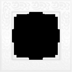 Рамка Flock на 1 пост белая WL05-Frame-01-white 4690389046704