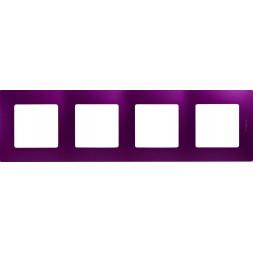 Рамка 4-постовая Legrand Etika сливовая 672564