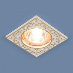 Встраиваемый светильник Elektrostandard 120071 MR16 WH/GD белый/золото 4690389060311