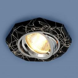 Встраиваемый светильник Elektrostandard 2040 MR16 BK/SL черный/серебро 4690389000355