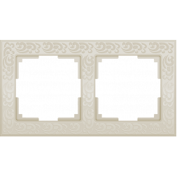 Рамка Flock на 2 поста слоновая кость WL05-Frame-02-ivory 4690389046919