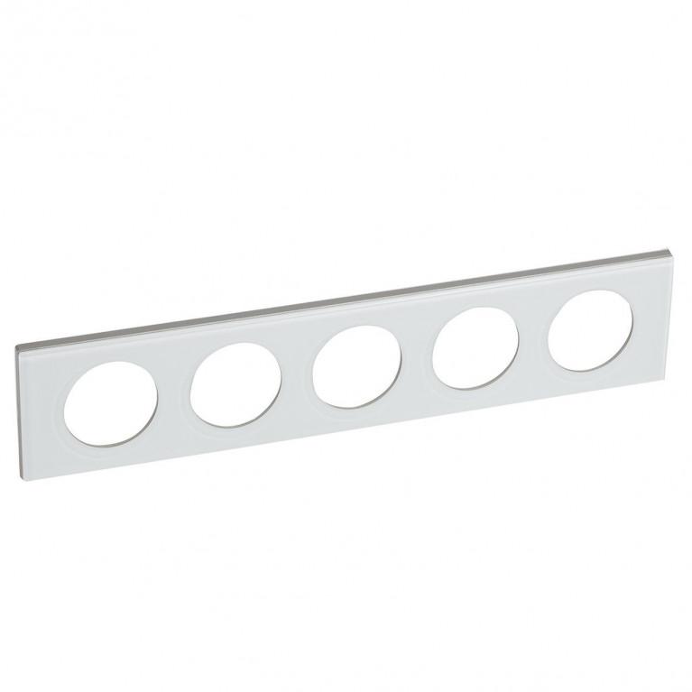 Рамка 5-постовая Legrand Celiane смальта белая глина 069320