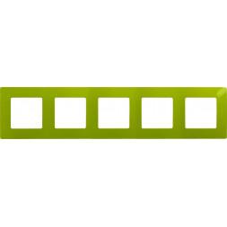 Рамка 5-постовая Legrand Etika зелёный папоротник 672545