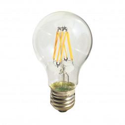 Лампа светодиодная филаментная E27 8W прозрачная 056-861