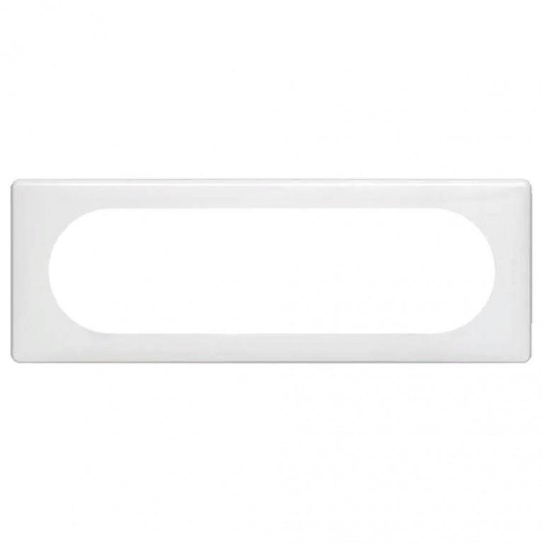 Рамка 6/8-модульная Legrand Celiane белый глянец 066636