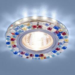 Встраиваемый светильник Elektrostandard 2195 MR16 SL/MLT зеркальный/мульти 4690389099427