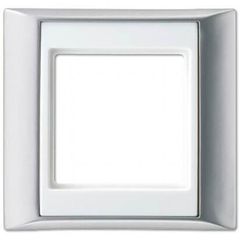 Рамка 1-постовая Jung A 500 алюминий/белая AP581ALWW