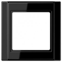 Рамка 1-постовая Jung A 500 черная A581SW