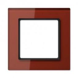 Рамка 1-постовая Jung A creation стекло красный оксид AC581GLRT
