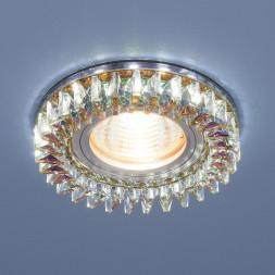 Встраиваемый светильник Elektrostandard 2216 MR16 MLT/CH мульти/хром 4690389126178