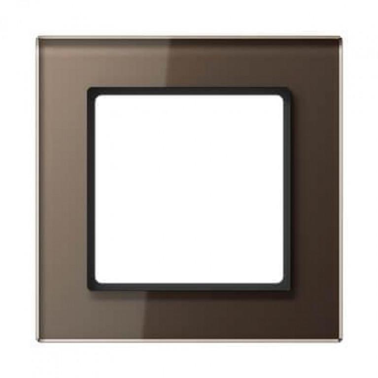 Рамка 1-постовая Jung A creation стекло мокка AC581GLMO