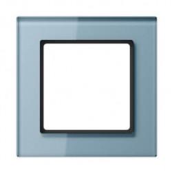 Рамка 1-постовая Jung A creation стекло серо-голубая AC581GLBLGR