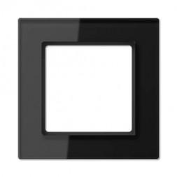 Рамка 1-постовая Jung A creation стекло черное AC581GLSW