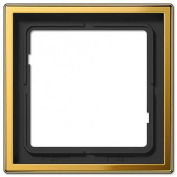 Рамка 1-постовая Jung LS 990 блеск золота GO2981