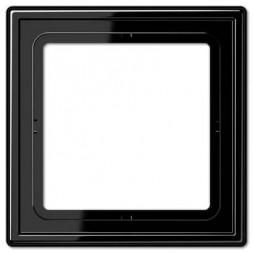 Рамка 1-постовая Jung LS 990 черная LS981SW