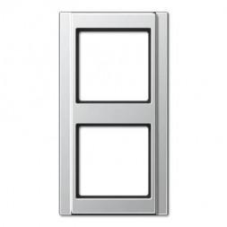 Рамка 2-постовая Jung A 500 алюминий A582AL