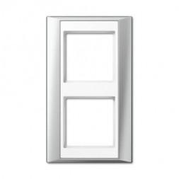 Рамка 2-постовая Jung A 500 алюминий/белая AP582ALWW