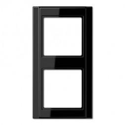 Рамка 2-постовая Jung A 500 черная A582SW
