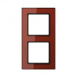 Рамка 2-постовая Jung A creation стекло красный оксид AC582GLRT