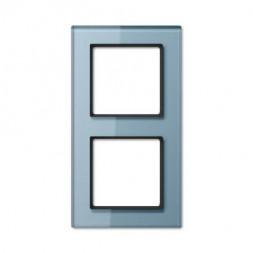 Рамка 2-постовая Jung A creation стекло серо-голубое AC582GLBLGR