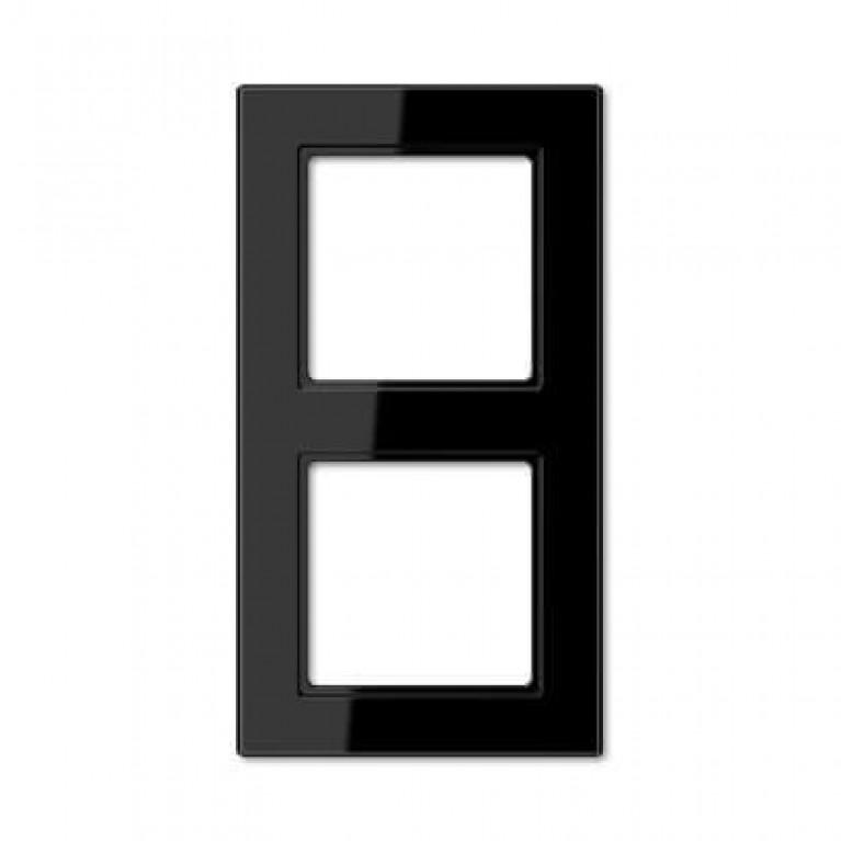 Рамка 2-постовая Jung A creation черная AC582SW