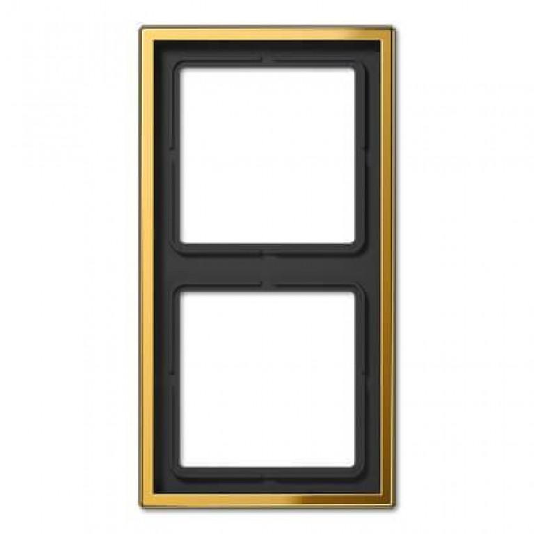 Рамка 2-постовая Jung LS 990 блеск золота GO2982