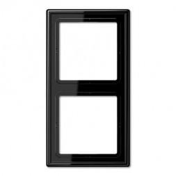 Рамка 2-постовая Jung LS 990 черная LS982SW