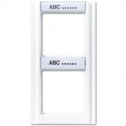 Рамка 2-постовая с шильдиком вертикальная Jung A 500 белая A582NAWW