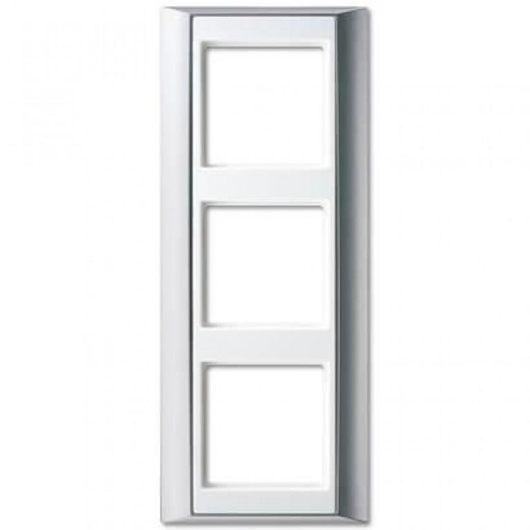 Рамка 3-постовая Jung A 500 алюминий/белая AP583ALWW