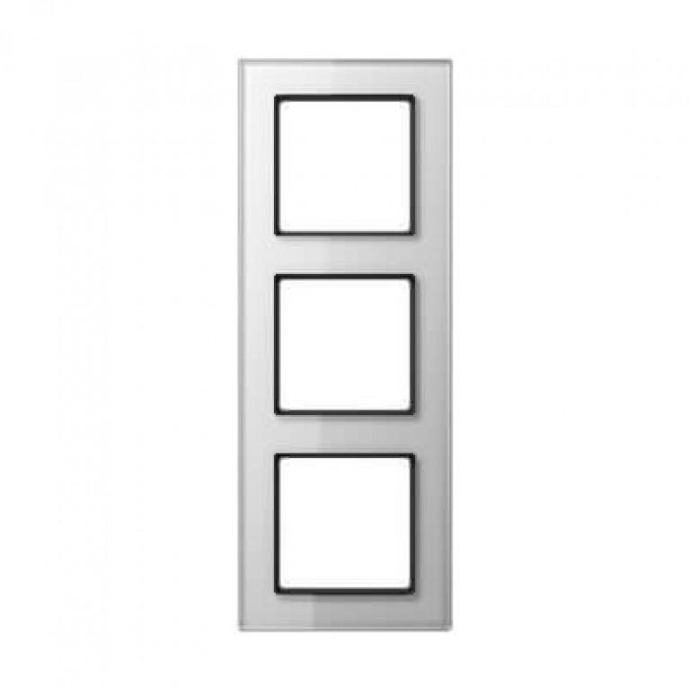 Рамка 3-постовая Jung A creation стекло белое AC583GLWW