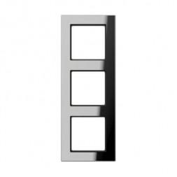 Рамка 3-постовая Jung A creation стекло зеркальное AC583GLSI