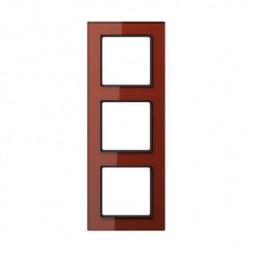 Рамка 3-постовая Jung A creation стекло красный оксид AC583GLRT