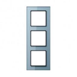 Рамка 3-постовая Jung A creation стекло серо-голубое AC583GLBLGR