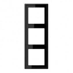 Рамка 3-постовая Jung LS 990 черная LS983SW