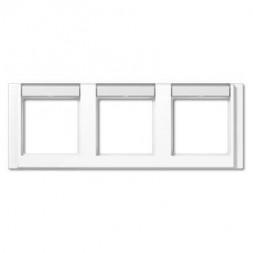 Рамка 3-постовая с шильдиком горизонтальная Jung A 500 белая A5830NAWW