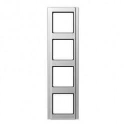 Рамка 4-постовая Jung A 500 алюминий A584AL
